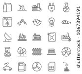 thin line icon set   offshore... | Shutterstock .eps vector #1067394191