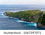 kelingking cliff  nusa penida ... | Shutterstock . vector #1067397071