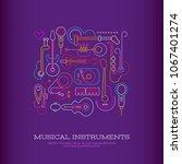 neon colors on a dark violet... | Shutterstock .eps vector #1067401274