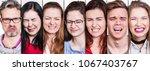 collection of young and old... | Shutterstock . vector #1067403767