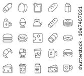 thin line icon set   coffee... | Shutterstock .eps vector #1067407031