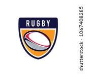rugby logo  american logo sport | Shutterstock .eps vector #1067408285