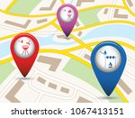 set of tourism services map... | Shutterstock .eps vector #1067413151
