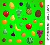 vector fruit set fresh abstract ... | Shutterstock .eps vector #106741541