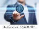digital brain artificial... | Shutterstock . vector #1067423381