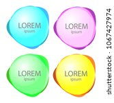 set of round colorful vector... | Shutterstock .eps vector #1067427974