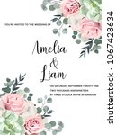 wedding invitation floral card... | Shutterstock .eps vector #1067428634