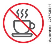 no coffee cup line icon ... | Shutterstock .eps vector #1067428844