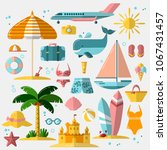 summer holiday  tourism and... | Shutterstock .eps vector #1067431457