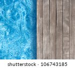 swimming pool and wooden deck... | Shutterstock . vector #106743185