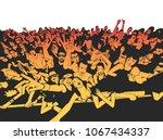summer music festival concert... | Shutterstock .eps vector #1067434337