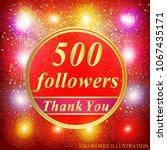 bright followers background.... | Shutterstock .eps vector #1067435171