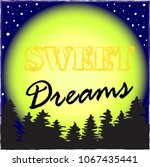good night.night in the forest... | Shutterstock .eps vector #1067435441
