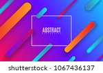 colorful gradient cover design. ... | Shutterstock .eps vector #1067436137