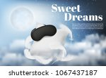 vector promotion banner with... | Shutterstock .eps vector #1067437187