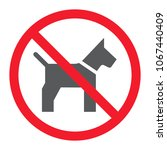 no dog glyph icon  prohibition... | Shutterstock .eps vector #1067440409