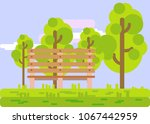 Park Background Vector...