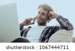 close up of a successful guy... | Shutterstock . vector #1067444711