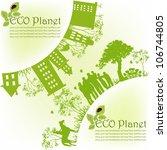 green ecological planet   Shutterstock .eps vector #106744805