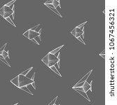 origami   seamless pattern with ... | Shutterstock .eps vector #1067456321