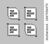 innovative set vector quotation ... | Shutterstock .eps vector #1067456474