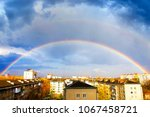 after a rain with a... | Shutterstock . vector #1067458721