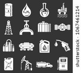 oil industry icons set vector... | Shutterstock .eps vector #1067461214