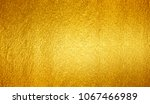 shiny yellow leaf gold foil... | Shutterstock . vector #1067466989