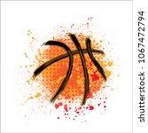 orange grunge and dots...   Shutterstock .eps vector #1067472794