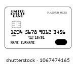 vector icon of platinum miles... | Shutterstock .eps vector #1067474165