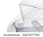 abstract architecture background | Shutterstock .eps vector #1067477705
