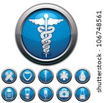 medical icons set  vectors... | Shutterstock .eps vector #106748561