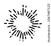 vintage sunburst explosion... | Shutterstock .eps vector #1067487125