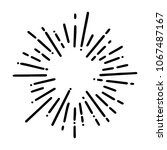 vintage sunburst explosion... | Shutterstock .eps vector #1067487167