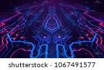 kaleidoscope vivid pink. micro... | Shutterstock . vector #1067491577