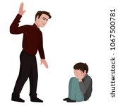 domestic   family violence. a... | Shutterstock .eps vector #1067500781