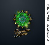 ramadan kareem. abstract girih... | Shutterstock .eps vector #1067502881