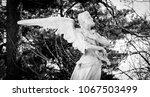Sculpture Of An Angel Lamentin...