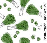 leek hand drawn seamless... | Shutterstock .eps vector #1067505221