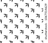 swallow pattern vector seamless ... | Shutterstock .eps vector #1067514629