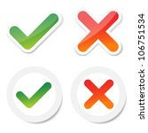 tick and cross sticker  for... | Shutterstock .eps vector #106751534