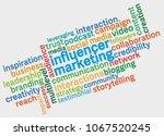 influencer marketing word cloud ...   Shutterstock .eps vector #1067520245