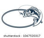 fishing bass logo. bass fish...   Shutterstock . vector #1067520317
