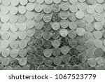 coins   top view thai baht many ...   Shutterstock . vector #1067523779
