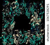 square frame of musical notes....   Shutterstock .eps vector #1067528291