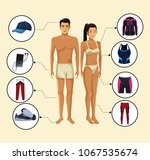 woman and man models with... | Shutterstock .eps vector #1067535674