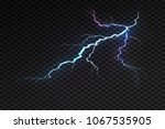 lightning flash bolt or... | Shutterstock .eps vector #1067535905