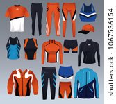 set of sport wear collection | Shutterstock .eps vector #1067536154