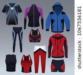 set of sport wear collection   Shutterstock .eps vector #1067536181