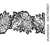 seamless monochrome pattern of... | Shutterstock .eps vector #1067543867